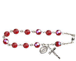Sterling Silver Ruby Rosary Bracelet FNRB9558RBSS