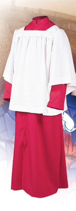 Red Altar Server Roman Cassocks with Snap Front - UT215S