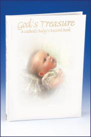 God's Treasure: A Catholic Baby's Record Book-GFRG10343