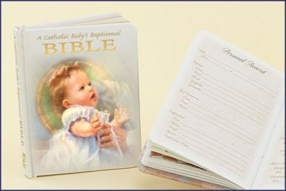 A Catholic Baby's Baptismal Bible-GFRG13012