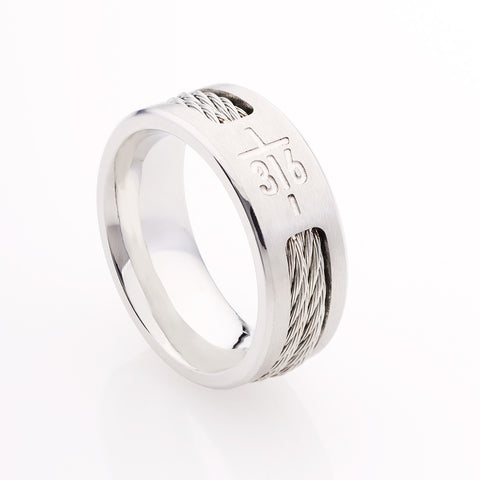 John 3:16 Cross Men's Ring - GCRNG