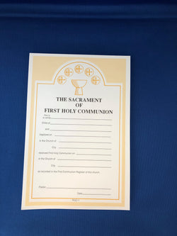 First Communion Certificates-RUC1