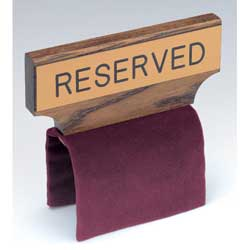 Flexible Fabric Pew Reserve Sign Maroon, Blue or Green-RURC5, RURC5-B & RURC5-G