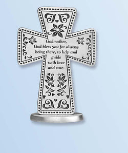 Godmother Standing Message Cross- GESQP124