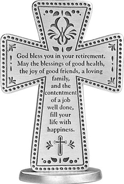 Retirement Standing Message Cross- GESQP132