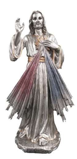 Divine Mercy Pewter-style Figure - ZWSR75020PE