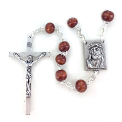 Brown Wood Rosary - WOSR4001JC