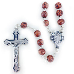 Wood Carved Rosary - WOSR4003JC
