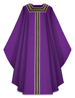 Gothic Chasuble - Purple - WN5144