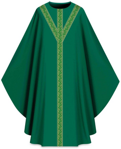 ASSISI Chasuble with orphrey (green)-WN701053