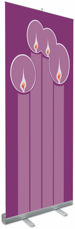 Roll-Up Banners Advent Candles - WN7319