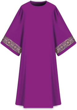 ASSISI Dalmatic with woven Orphrey (Purple) -WN707014
