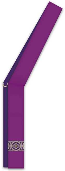 ASSISI Deacon Stole with woven Orphrey (Purple) -WN734014