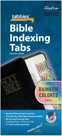 Rainbow Bible Indexing Tabs Old & New Testament - 9789900493464