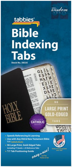 Bible Tab-OT & NT Gld Cath [With Booklet] - Large Print - 084371583355