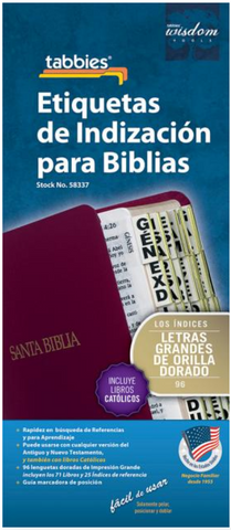 Large Print Spanish Bible Indexing Tabs - 9789900493372