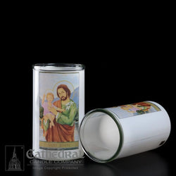 Patron Saint Glass 3 Day Globes - St. Joseph