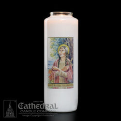 Patron Saint Glass 6 Day Candles - St. Kateri Tekakwitha - GG2115