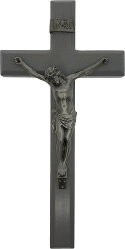 "11"" Grey Wood Crucifix - TA27P11G1"