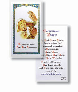 First Holy Communion Girl Prayer Card - TA800001