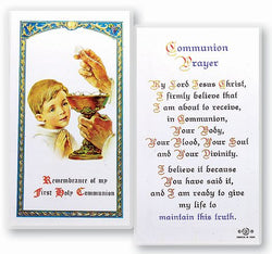 First Holy Communion Boy Prayer Card - TA800002