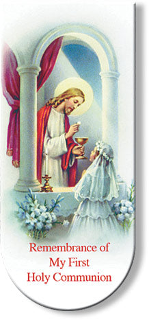 Communion Prayer Girl Magnetic Bookmark - TAB3673