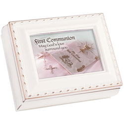 Ivory Keepsake Box First Communion - GPTS521SI