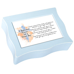 Blue Wavy Music Box Baptism - GPWBBJESUS