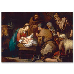 Murillo Adoration of the Shepherds Christmas Cards PNWCB4188