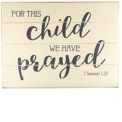 For This Child... Wall Plaque - GEWP536