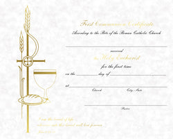 First Communion Certificate - FQXB103