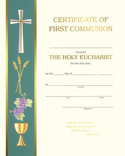 First Communion Certificate - FQXC103