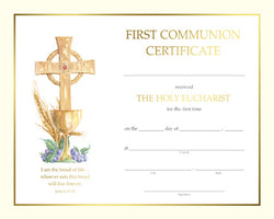 First Communion Certificate - FQXS103