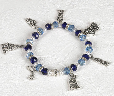 Christmas Nativity Crystal Charm Bracelet - NP108164272