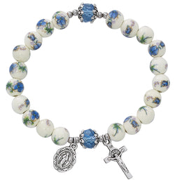 Blue Ceramic Stretch Bracelet UZBR910C