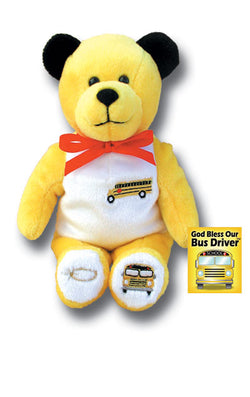 Yellow School Bus Driver Holy Bear - TXBUSD