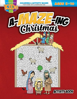 An A-MAZE-ing Christmas Coloring Activity Book - AJE4826