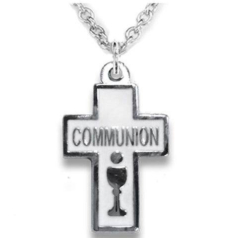 First Communion Cross Necklace - WOSX4098