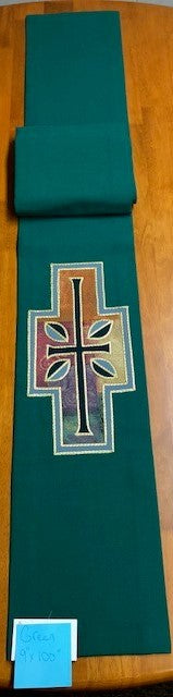 Altar Scarf- Green Fabric - Sale Priced - JG20-512