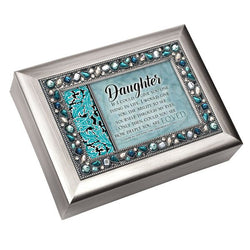 Jeweled Black Music Box Daughter - GPJMTCSGRACED