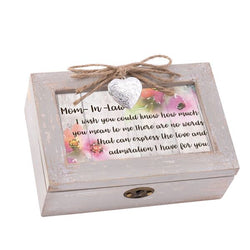 Petite Distressed Music Box with Locket - GPLPNWINDM
