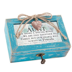 Blue Petite Distressed Music Box with Locket Aunt - GPLPBLFRIENDAU