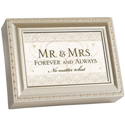 Ivory Wood grain Music Box Wedding - GPMBIVLIGHTW
