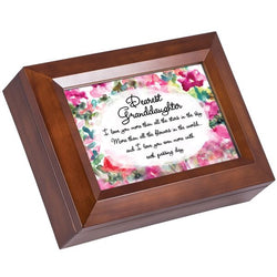 Wood grain Music Box Granddaughter - GPMBTWALLGD