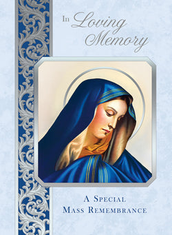 Madonna Mass Cards In Loving Memory FQME665