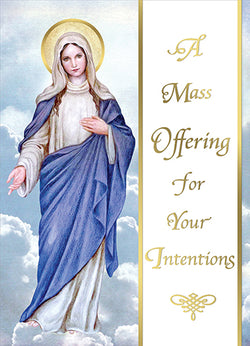 For Your Intentions Living Mass Cards FQME734
