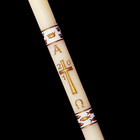 Paschal Candle - White Gloria