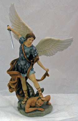 "14.5""  St. Michael Statue in Color - ZWSR71543C2"