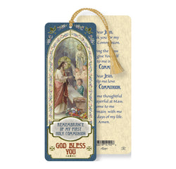 Communion Boy Bookmark with Tassel - TAB8678