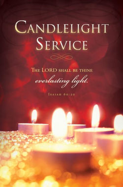 Candlelight Service Christmas Bulletin Cover - AJU3355